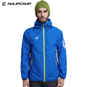 Amurcamp 1.5万透湿1万防水 男防暴雨级跑步冲锋衣