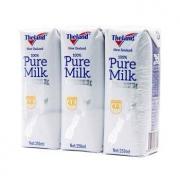 Theland 纽仕兰 全脂纯牛奶 250ml*3支7.9元(需首购礼金)