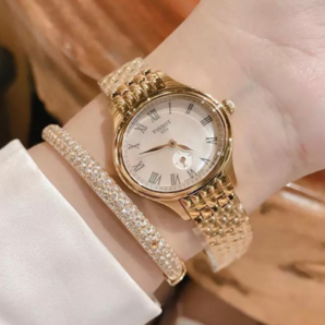 Tissot 天梭 Bella Ora 系列 金色女士气质腕表