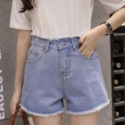 视觉显高!高窕秀腿 女士高腰牛仔短裤 S-XXL¥19.90 1.6折