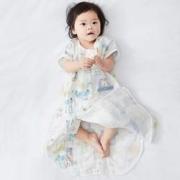 Wellber 威尔贝鲁 新生儿童纱布短袖大空间睡袋