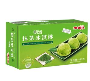 PLUS会员!meiji 明治 抹茶冰淇淋 490g
