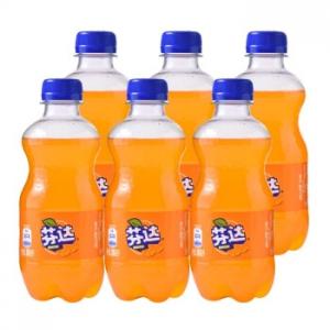 Fanta 芬达 橙味 汽水 碳酸饮料 300ml*6瓶
