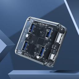 ORICO 奥睿科 USB3.0分线器 全透明系列