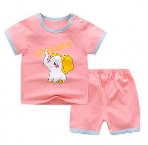 PLUS会员:萌趣熊 儿童纯棉短袖套装*3件