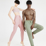 A类标准,40S精梳棉:大朴 2021新款 宽松束脚针织长裤69元包邮