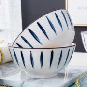 日式彩釉碗可微波炉餐具6.8元包邮
