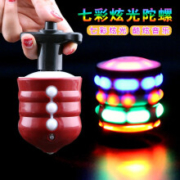 飞翔玩具  LH203-仿木音乐发光陀螺  一个