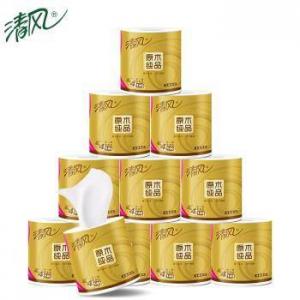 Breeze 清风 原木金装系列 有芯卷纸 4层140g 20卷 *5件