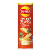 LAY'S 乐事 无限薯片 嗞嗞烤肉味 104g罐装*3件13.35元(合4.45元/件)