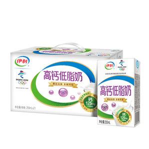 88VIP!yili 伊利 高钙低脂牛奶早餐 250ml*21盒