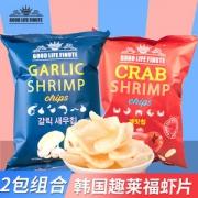 韩国进口 趣莱福 蒜味/蟹味虾片 82g14.6元包邮
