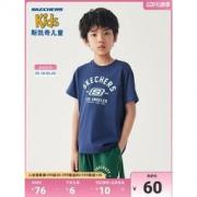 斯凯奇 新款男童女童纯棉短袖T恤54.16元包邮(双重优惠)