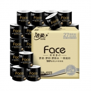 88VIP:C&S 洁柔 Face系列 有芯卷纸 4层130g27卷 *2件54.97元包邮(合27.48元/件)