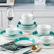 【8件套】北欧风手绘碗碟套装12.8元
