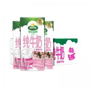88VIP:Arla爱氏晨曦 脱脂纯牛奶 200ml*24盒 *3件