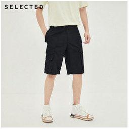 SELECTED 思莱德 4202SH031 工装五分休闲短裤