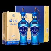 京东PLUS会员:洋河 蓝色经典 海之蓝42度浓香型白酒 375ml*2瓶189元包邮(多重优惠)