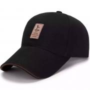 HXUN  纯棉棒球帽  鸭舌帽  黑色9.9元包邮