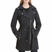 DKNY 女式中长款防水软壳夹克