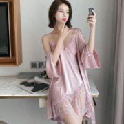 PEANOJEAN 6846 镂空吊带睡裙两件套108元包邮