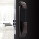 SAMSUNG 三星 SHP-DP728 指纹锁防盗门智能锁蓝牙APP家用电子密码锁 咖啡棕