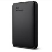 Western Digital 西部数据 Elements 新元素系列 2.5英寸 USB便携式移动机械硬盘 4TB USB3.0 黑色