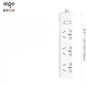 aigo 爱国者  插线板  总控 3插位 1.8米 AC0301