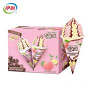 PLUS会员!伊利 巧乐兹 姜撞奶蜜桃乌龙+巧克力香草口味脆筒冰淇淋 85g*4支/盒