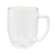 TANGZUN 唐尊 锤纹带把玻璃杯 310ml4.66元包邮(淘金币可抵0.14元)