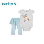 Carter's 孩特 婴儿短袖哈衣裤子套装