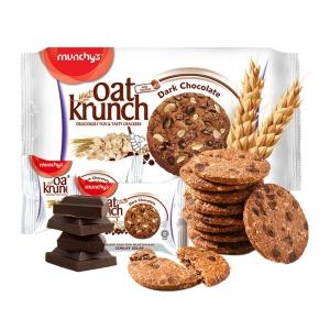 munchy's 马奇新新 黑巧克力燕麦饼干 208g*2件