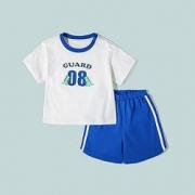 Mini Balabala 迷你巴拉巴拉 儿童透气速干短袖运动套装