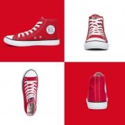 WARRIOR 回力 HL1217 男士 中性款休闲帆布鞋 红色29.9元包邮(需用劵)