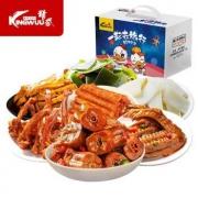 PLUS会员:KINGWUU 精武 鸭脖一起去旅行零食大礼包 500g*2件34.8元(合17.4元/件)