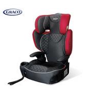 GRACO 葛莱 靠背版安全座椅增高坐垫 4-12岁 红黑色