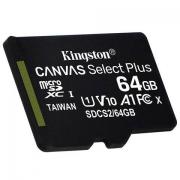 618品类日:Kingston 金士顿 CANVAS Select Plus microSDXC A1 UHS-I U1 TF存储卡 64GB39.8元
