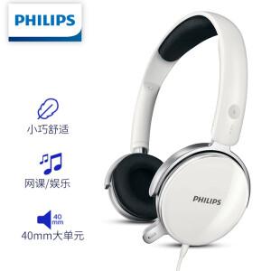 PLUS会员:PHILIPS 飞利浦 SHM7110U 头戴式有线耳机