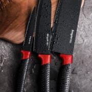 bayco 拜格 刀具厨房套装 红柄三件套(切片刀+料理刀+水果刀)