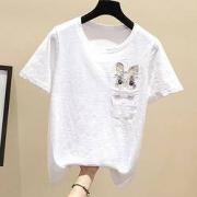 Lee Cooper LCGK2066-L 女款可爱动物刺绣短袖T恤44元