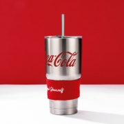MINISO 名创优品 可口可乐经典不锈钢吸管保温杯 可保冷水杯 850ml