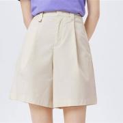 Semir 森马  褶皱五分短裤  四色选择 10B9321125040