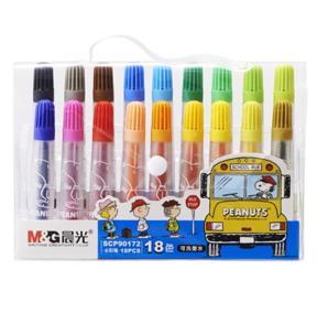 M&G 晨光 SCP90172 可洗水彩笔 18色 18支/袋