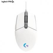 logitech 罗技 G102 有线鼠标 白色69元