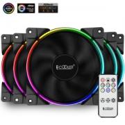 PCCOOLER 超频三 皓月FRGB RGB机箱风扇 120mm 五个装219元包邮(双重优惠)