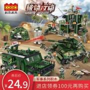 Cogo 积高 益智拼插积木军事导弹坦克模型 192片24.9元包邮