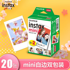 INSTAX 一次成像相机 MINI相纸 白边(双包装)