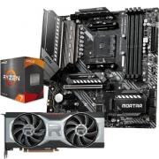 MSI 微星 MAG B550M MORTAR迫击炮主板+AMD R7 5800X 处理器+AMD RADEON RX 6700 XT显卡套装7898元