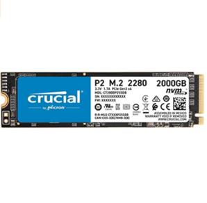 Prime会员!Crucial 英睿达 P2 2TB 3D NAND NVMe PCIe M.2 固态硬盘 到手1132.84元