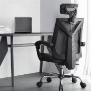 HBADA 黑白调 HDNY132 人体工学电脑椅 脚托款